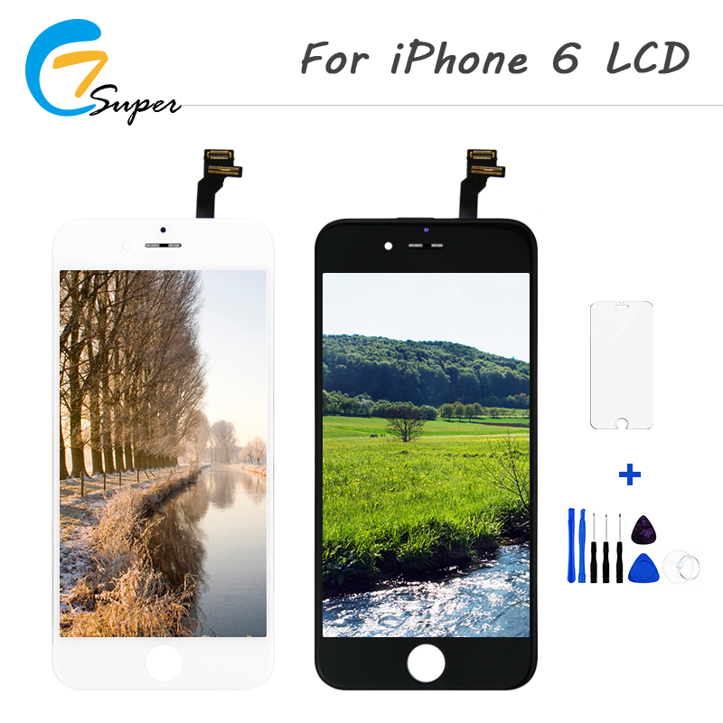 1PCS LCD Display for iphone 6 6g Display AAA Screen Replalcement Touch Screen Digitizer Assembly No Dead Pixel Free Shipping