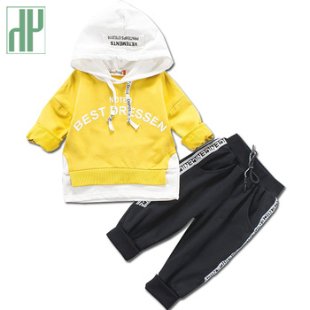 Kids clothes Letter tracksuit for boys hooded coat Sports Suit childrens clothes Infant girls boutique outfits 1 2 3 4 Years