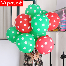 VIPOINT PARTY 100pcs 12inch green red latex balloons wedding event christmas halloween festival birthday party HY-384
