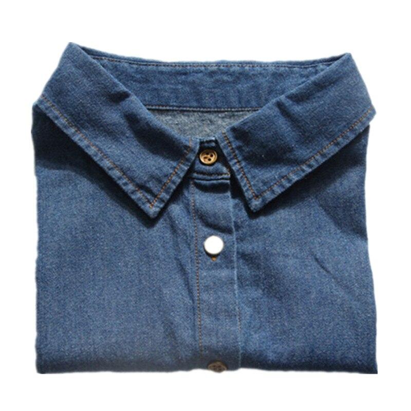 Women Shirt Fake Collar Denim Tie Fashion Detachable Collar False Collar Lapel Blouse Top Women Clothes Accessories