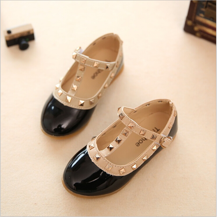 New Spring Leather Shoes Children Shoes Princess Patent Leather Kids Sneaker for girls baby girls casual shoes kids sneaker girls dance shoes pu baby princess flat flowers single shoes spring summer autumn children student leather shoes