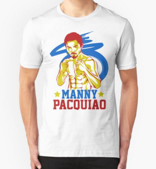 free shipping 2017 new brand Pacquiao Pacman mens printed casual Boxing / MMA T-shirt round neck short sleeve champion T-shirt