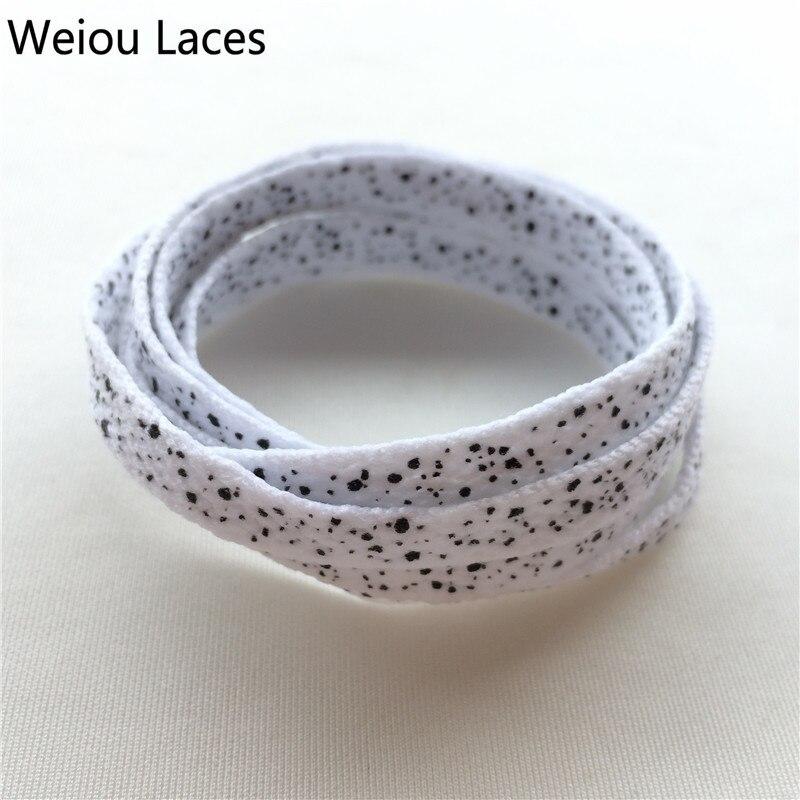 New Fashion Weiou Unique Mens Shoelaces Athletic Cute Popular Printed Splatter Shoelaces Plain Flat Sport Dot Shoe Lace Custom