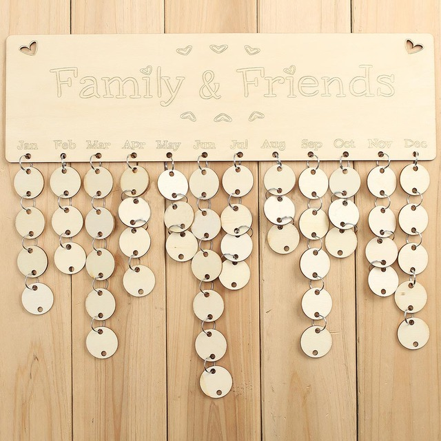 Family Friends Birthday Reminder Plaque Gifts Fashion Home Hanging