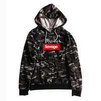 2017 100 Cotton 21 Savage Street Wear Woolcotton Suprem Hoodies Parody No Heart X Savage Hoodie