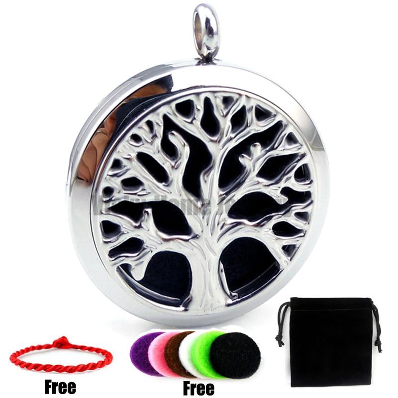 Tree Design (30mm) Diffuser Palte Casting Perfume Stainless Steel Essential Oils Diffuser Locket Aroma Diffuser Locket Pendant