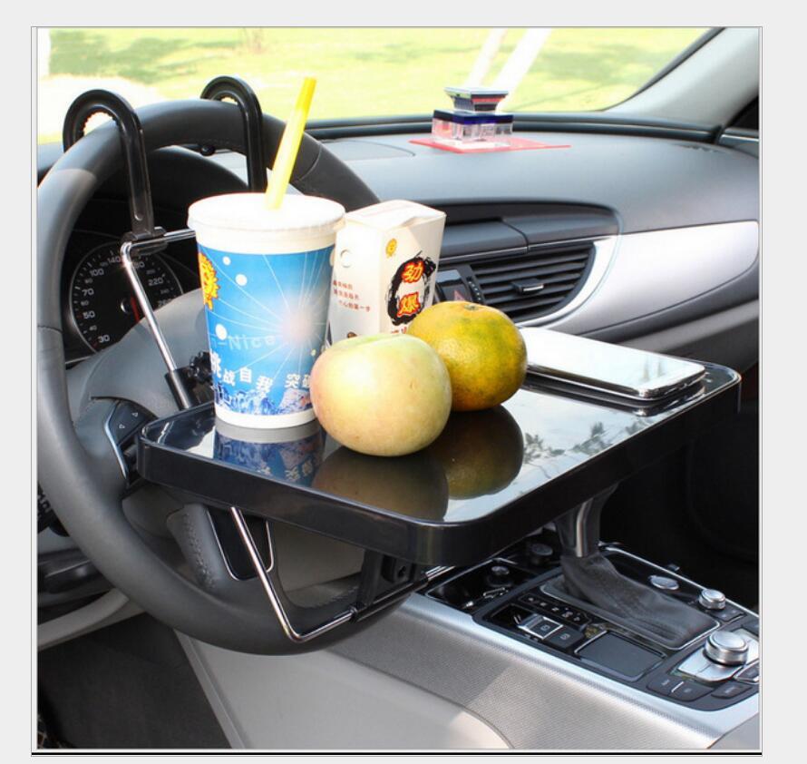 Voiture support de verre Portable bureau volant voiture pour SUV siège arrière plateau Stand travail Table à manger voiture support de verre - 3