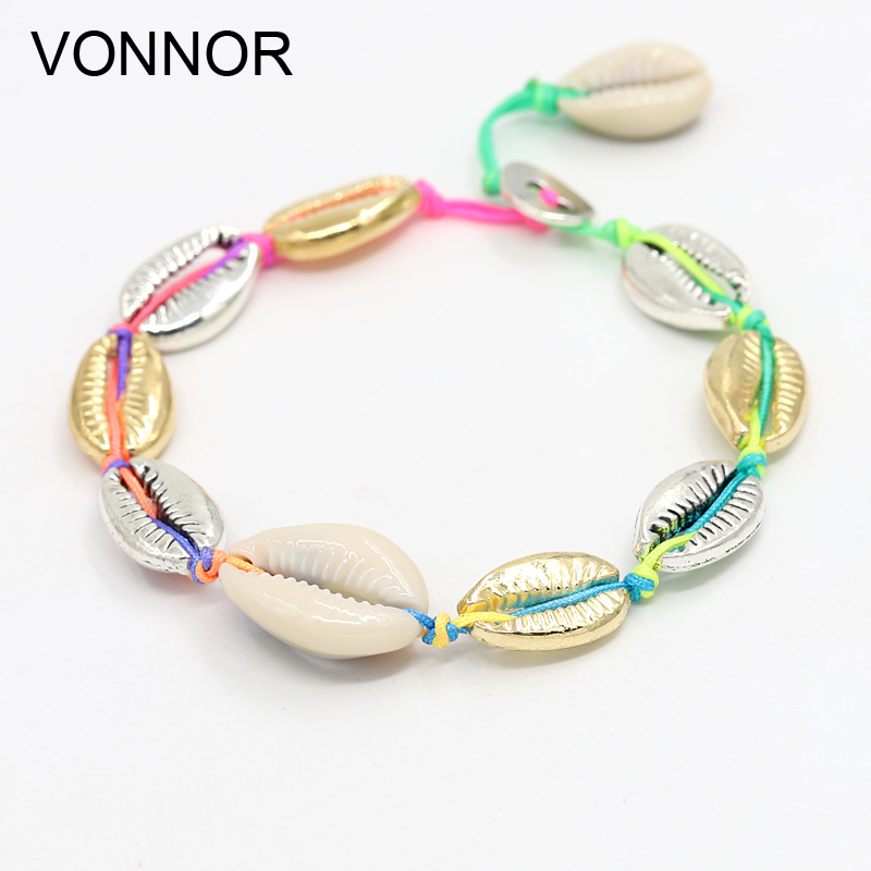 VONNOR shell anklet for Women Foot Jewelry Beach Barefoot Sandals ankle bracelet leg Female Ankle strap