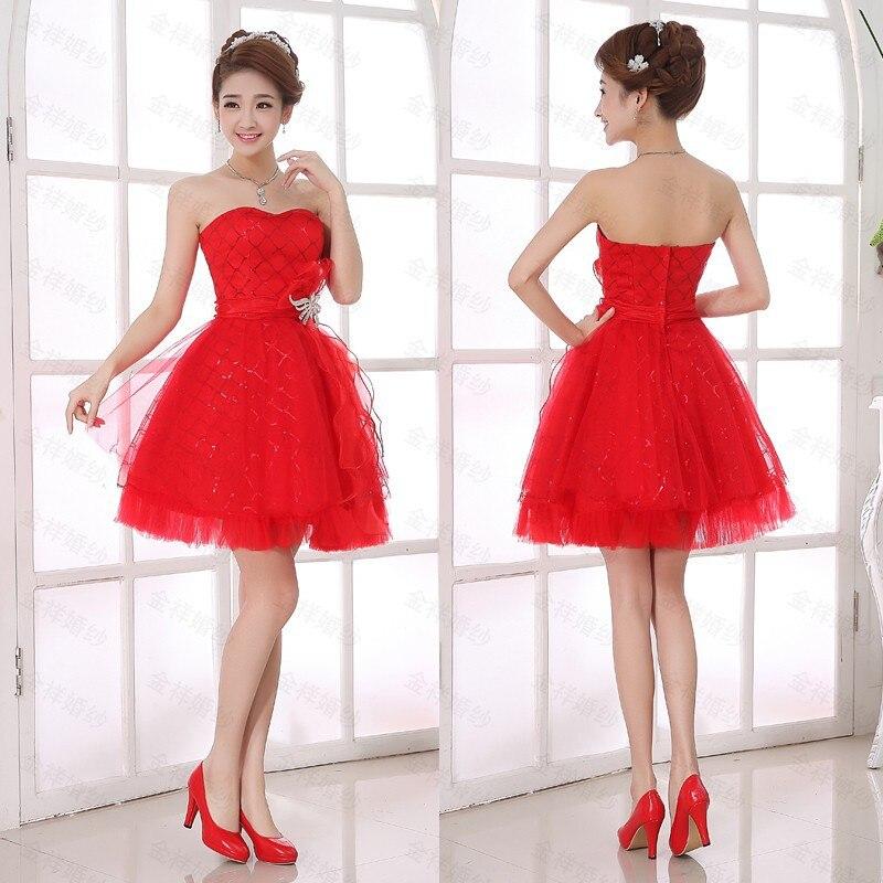 Aliexpress.com : Buy Balk Sale Spring Fashion Bridesmaid Dress Red ...