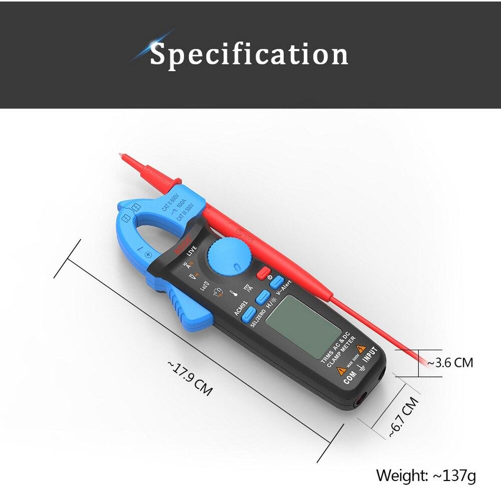 Clamp Meter DC AC Atual 100A 1mA