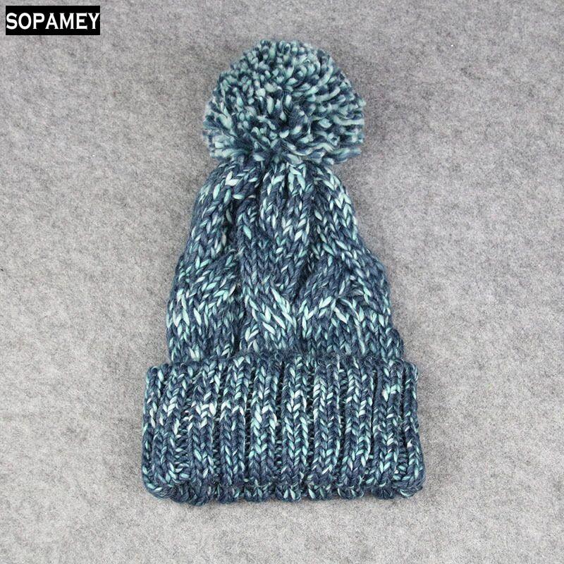 Knitting Ball Skullies Beanies Casual Streetwear Pom Pom Warm Hat