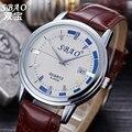 2016 Original Marca de Luxo Data de SBAO Relógio de Quartzo Das Mulheres Dos Homens de Esportes Casuais Amantes de Relógios de Moda em Couro Relógio de Pulso Relogio