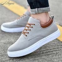 Mhysa 2019 New spring fashion wild men's canvas shoes comfortable breathable casual Vulcanize shoes men's lace flat shoes L072