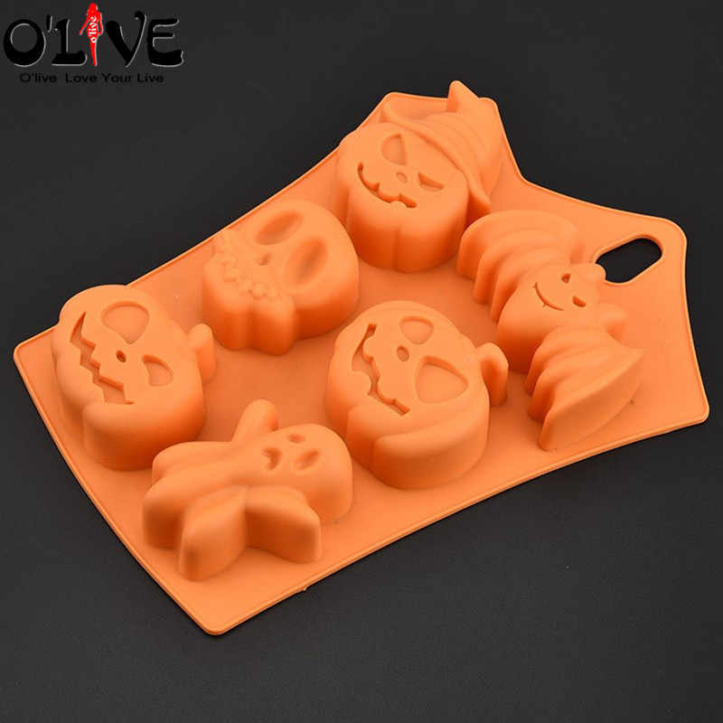 Detail Feedback Questions About Silicone Mold Skull Pumpkin Bat Cake Decorating Tools Fondant Chocolate Forms Ice Cube Soap Fimo On