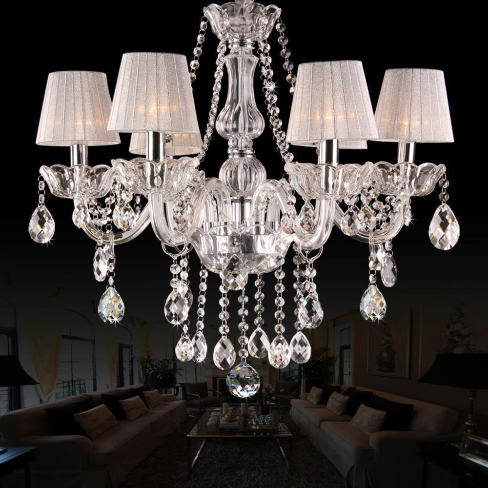 Aliexpress buy modern crystal chandelier lighting lamps modern aliexpress buy modern crystal chandelier lighting lamps modern fashion art crystal chandelier with lampshades light lamp cover luxury crystal from aloadofball Choice Image