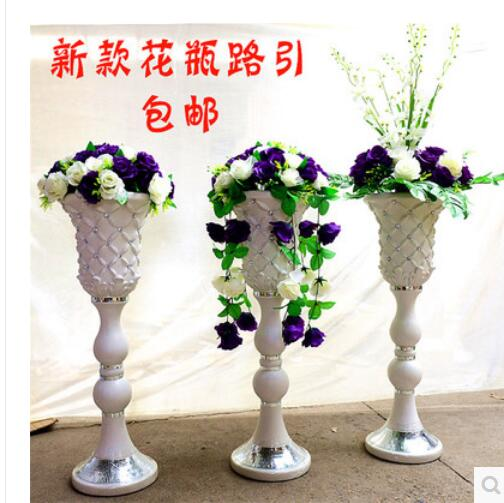 Set Of 10 Country Garden Flower Seed Wedding Favours With: 2pcs New Wedding Props Simulation Vases Road Lead The Silk