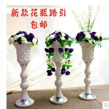 2pcs new wedding props simulation vases road lead the silk flower to Roman column