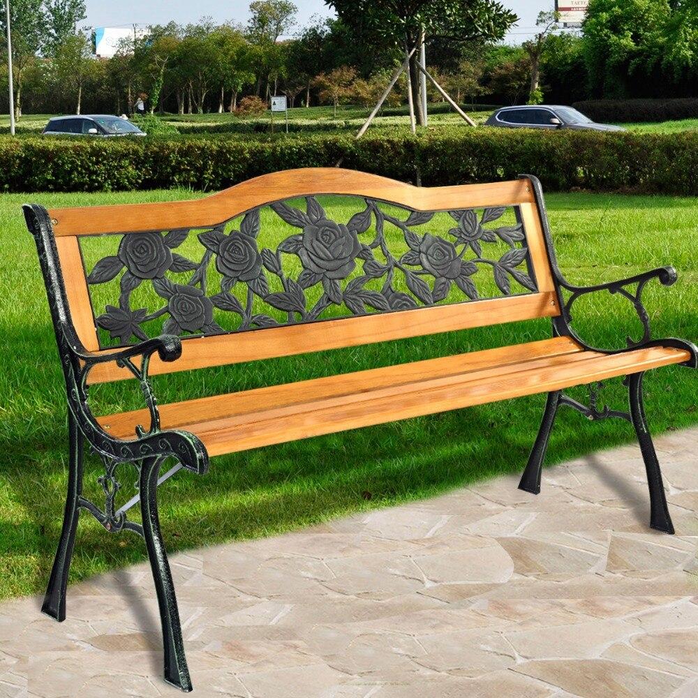 Outdoor Patio Furniture Aluminum Frame: Patio Benches Garden Bench Park Yard Outdoor Furniture