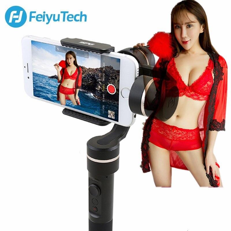 D'origine FeiyuTech Feiyu SPG Cardan 3-Axe Splash Preuve De Poche Cardan Stabilisateur pour iPhone X 8 7 6 Plus smartphone Gopro