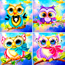 5D Diy Diamond Painting Animal Embroidery Pattern Cartoon Owl Mosaic Rhinestone Home Decoration Gift	 L719