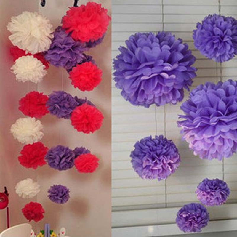 10 pcs diy multicolor tissue paper flower balls pom poms wedding 10 pcs diy multicolor tissue paper flower balls pom poms wedding hanging flower balls birthday party home outdoor decortaion in artificial dried flowers mightylinksfo