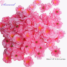 150pcs Artificial Peach Blossom Flower Heads Spring Cherry Plum Bouquet Branch Décor Supplies Fake Flowers Wedding Arrangement