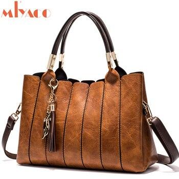 MIYACO New Women Bag Top-Handle Big Capacity Female Handbag Fashion Shoulder Bag Purse Ladies PU Leather Crossbody Bag Set Сумка