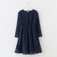Girl Korean Tide Long Sleeved Cotton Dress Autumn For Size 4 5 6 7 8 9