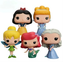 10Cm Funko Pop Figures Princess Model Cinderella Tinker Bell Ariel Snow White Action Figure Girls Christmas Gift Toy With Box