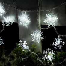 5M 28LEDS Snowflake LED String Lights Christmas Holiday Lighting for the Curtain Bedroom Party Wedding Decoration