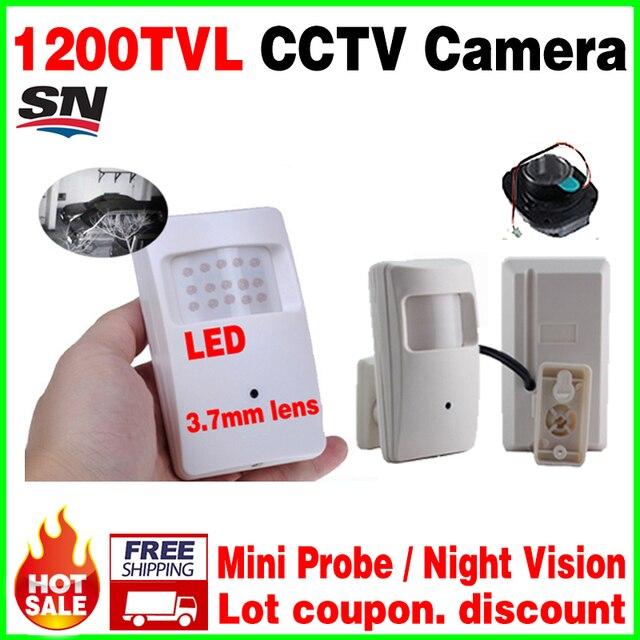 Бесплатная доставка Ночного Видения 20 м Зонд Инфракрасный 18led ahdl Камеры 1/3 CMOS 1200TVL HD CCTV КАМЕРЫ Видеонаблюдения Цвет 3.7 мм Объектив