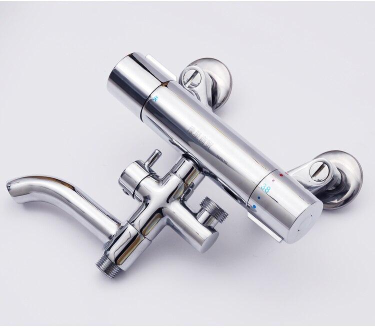Luxury Bathtub Thermostatic Faucet Shower Mixer Valve Bathroom Taps Standing Tub Faucet HH 15 3