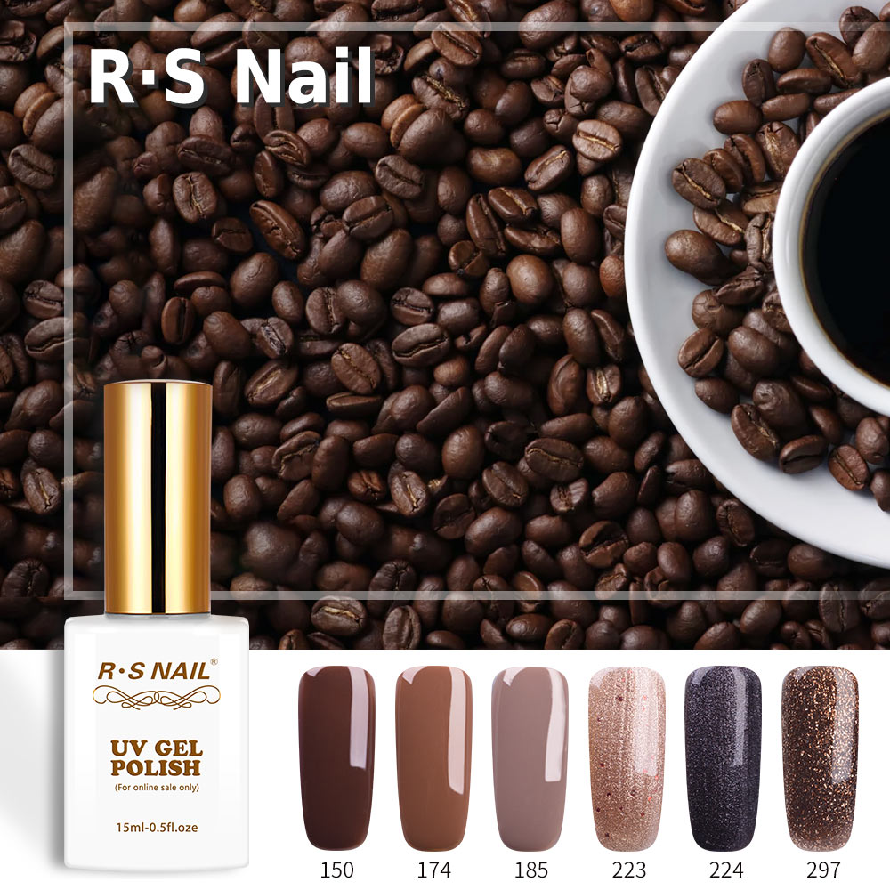 Rs Nail: RS Nail UV Color Nail Gel Polish Set Coffee Series Gel
