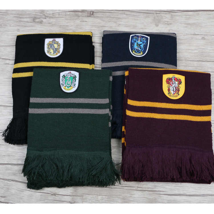 Cosplay Scarf Scarves Gryffindor,Slytherin,Hufflepuff,Ravenclaw Scarf Scarves Costumes Gift Original Version Warm