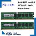 Бесплатная доставка настольных DDR3 16 ГБ 1600 МГц 16 ГБ (Комплект из 2, 2X ddr3 8 ГБ) PC3-12800 Новая работа longdimm настольных