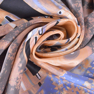 Image 5 - Winter Accessories Khaki Square Scarves Printed For Ladies Fashion Lovers 100% Natural Silk Scarf Printed 90*90cm Autumn Scarves
