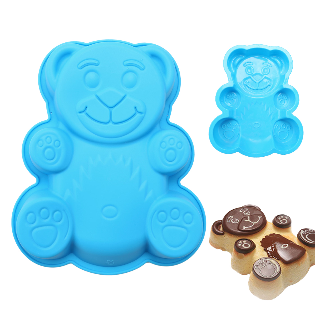 Soap Mould 1PC Cartoon Bear Shape Fondant Molds Cake Decorating Tools Chocolate Soap Mold Cake Stencils Kitchen DIY Tools