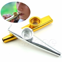 2017 Metal Golden Mouth Harmonica  Kids Party Gift Kid Musical Instrument APR22_30