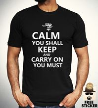 Yoda Keep Calm T shirt Funny Star Wars Parody Tee Film Inspired t Cool Gift Mens Free shipping  Harajuku Tops Classic Unique стоимость