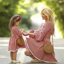 Рождественское платье для мамы и дочки милое девочек детей элегантное