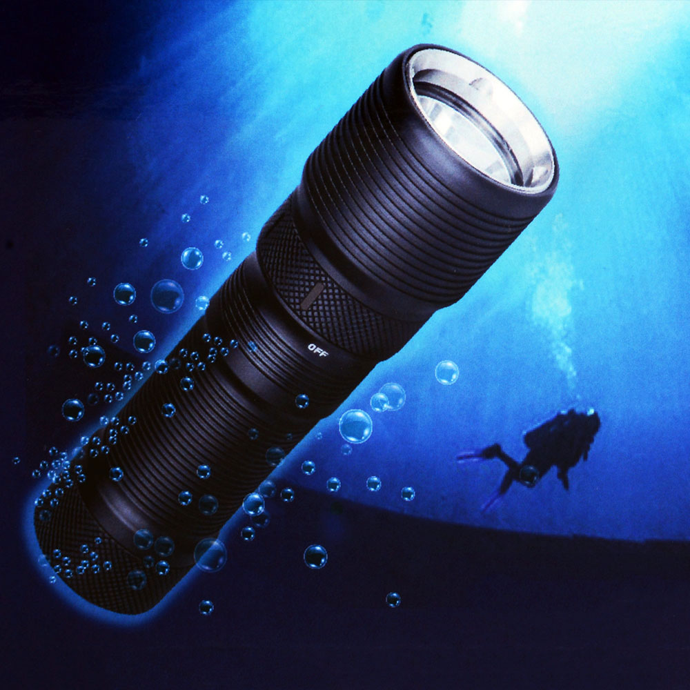 TrustFire DF008 Diving XM-L2 Waterproof 3 Mode Magnetic Control Switch LED Torch Flashlight