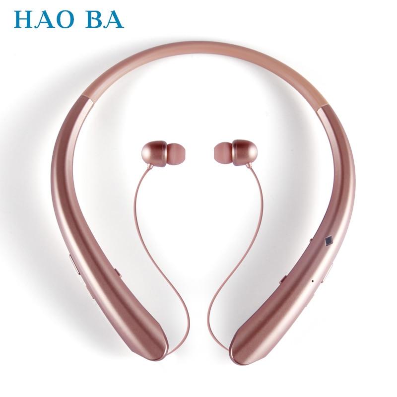 HAOBA 916 Wireless Bluetooth Headset Sports Bluetooth Earphones Headphone with Mic Bass Earphone bass for Samsung iphone xiaomi