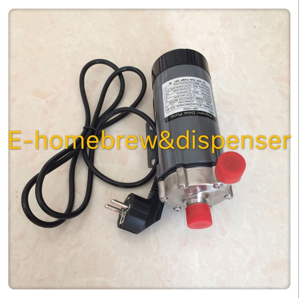 220V beer Magnetic Drive Pump 15R With 304 Stainless Steel Head,homebrew,with European Plug