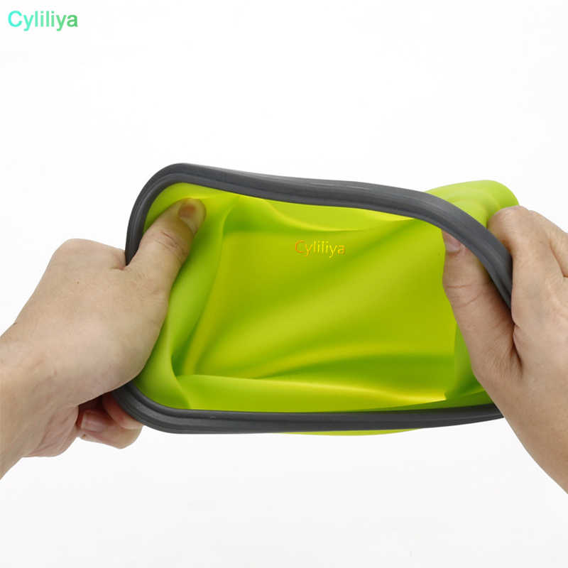 30pc6 Colors Floding Lunch Boxes Food Grade Silicone Food Storage Containers Student Portable Bento Box 350ml/500ml/800ml/1200ml