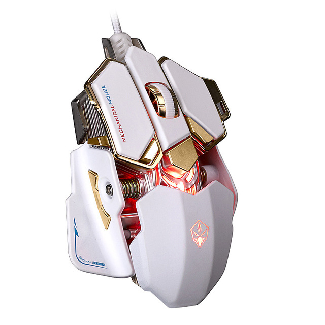 Wired Macros Gaming Mouse Computer 4000 DPI 10 Buttons Backlit Optical Gamer Mice Mechanical Ergonomic PC Desktop Peripherals 4