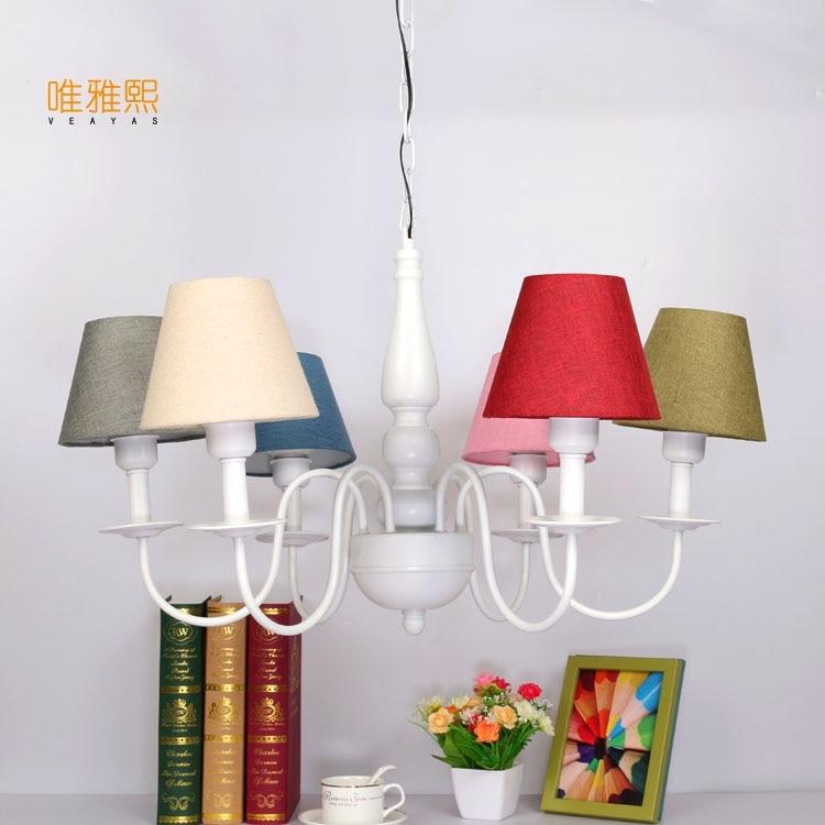 Veayas 8 Arms children bed lighting Chandelier Modern Lustres de Living Room E27