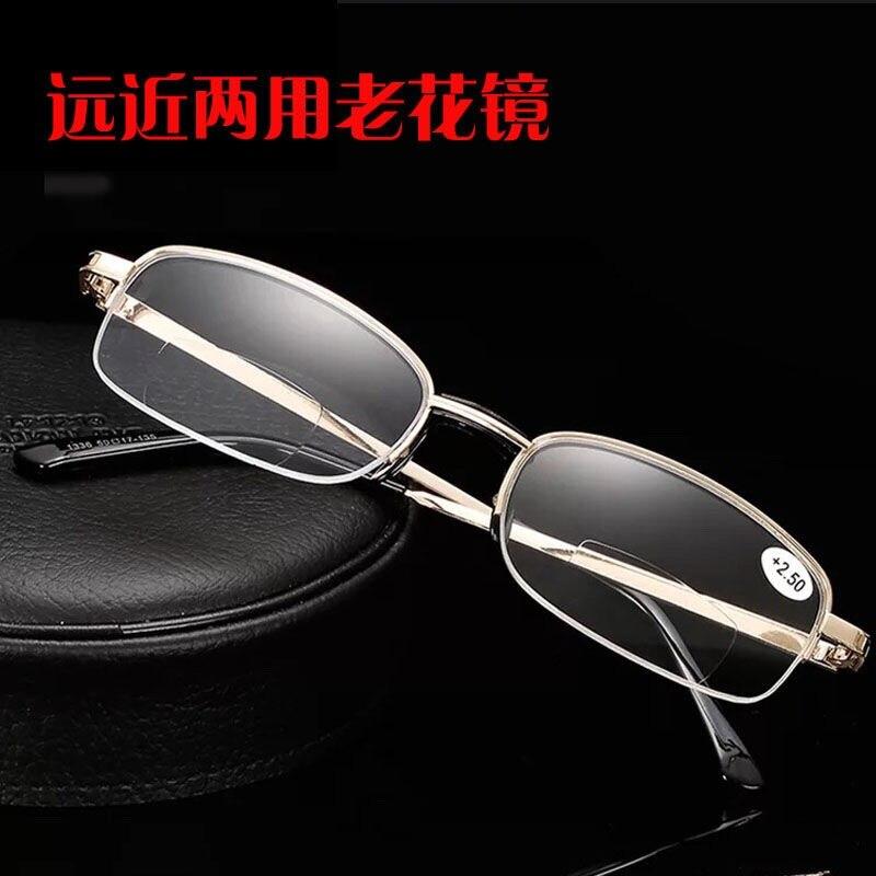 Anti Fatigue Eyewear Metal Wood Optical Frame Anti Blue Light Reading Glasses