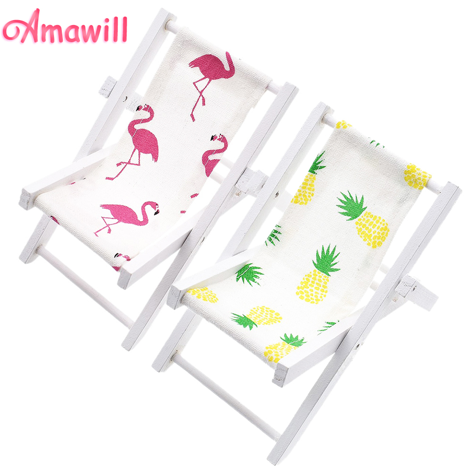 Amawill INs Mini Flamingo Wooden Beach Chair Pineapple Decoration P ...