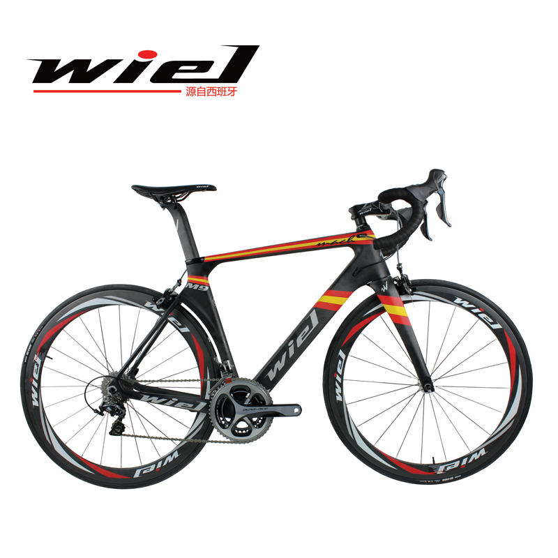 WIEL Mach 700C Road Bike Carbon Fiber Frame / Fork/Seat Post Cycling Bicycle 22 Speed 9100 Groupset Carbon 38C Wheels