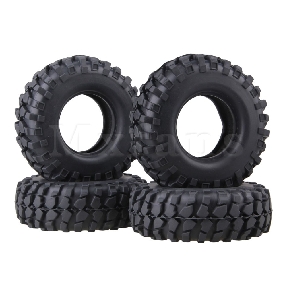 Mxfans 4 x Rubber Tyre 108mm Tires Sponge Insert RC 1:10 Black Rock Crawler mxfans 4x black rc 1 10 on road car rubber fish scale tyre